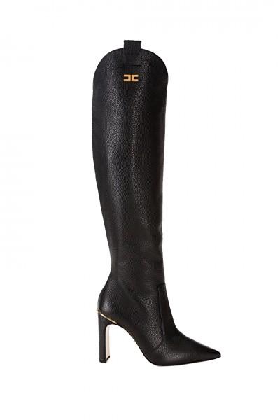 Elisabetta Franchi  Stivali a punta in pelle SA28L06E2 Nero