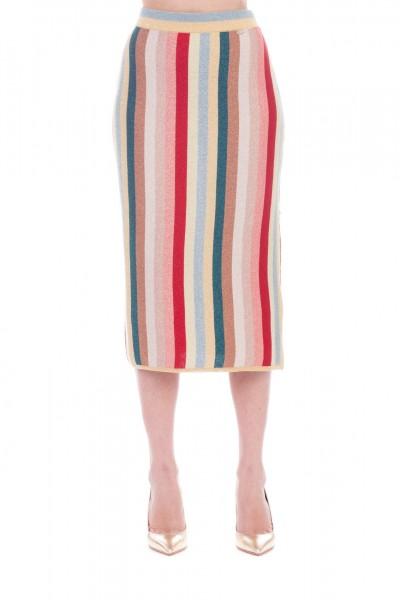 Elisabetta Franchi  Gonna in maglia multicolor GK02T93E2 Multicolor