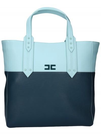 Elisabetta Franchi  Shopper bicolor BS44A92E2 Ottanio/Acquamarina