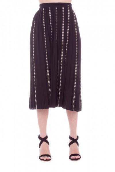 Elisabetta Franchi  Pleated knit skirt GK03L92E2 Nero