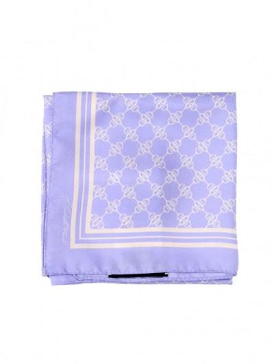 Elisabetta Franchi  Silk scarf with print FO01F11E2 Lavanda/Burro