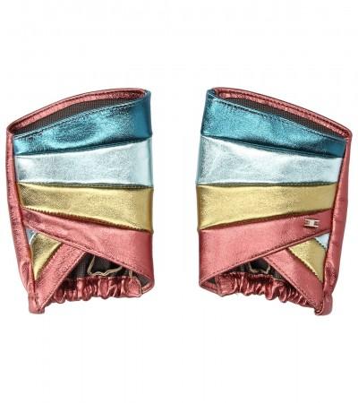 Elisabetta Franchi  Multitone gloves GU01M93E2 Multicolor