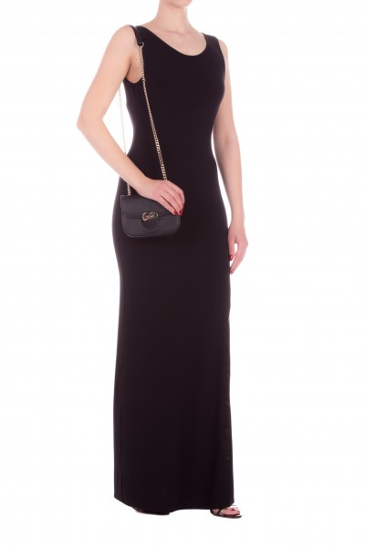 Twin-Set  Knitted dress with side slit 201MT2152 NERO