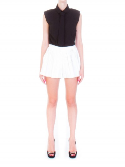 Mangano  Pleated shorts in leather fabric P16MNG00058