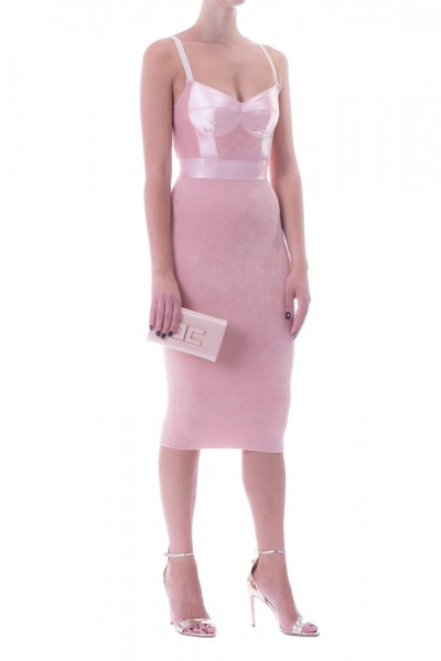 Elisabetta Franchi  Knit pencil dress AM67L97E2 Rosa Antico