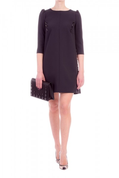 Elisabetta Franchi  Mini dress with stars insert AB66291E2 Nero