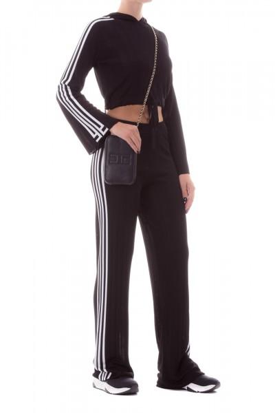 Elisabetta Franchi  Knit trousers Moves Line KP06S96E2 Nero/Avorio