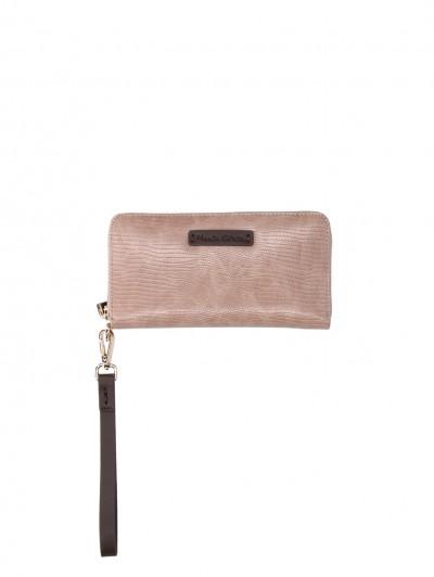 Manila Grace  Python wallet with wrist lace D821EU TORTORA