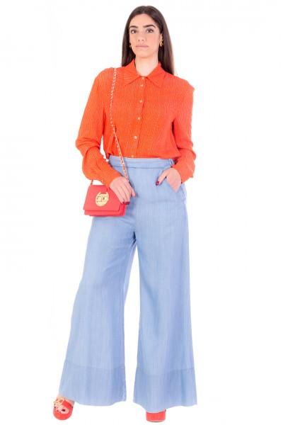Pinko  Jeans a Palazzo in Tessuto Leggero 1J10MQ-Y6X4