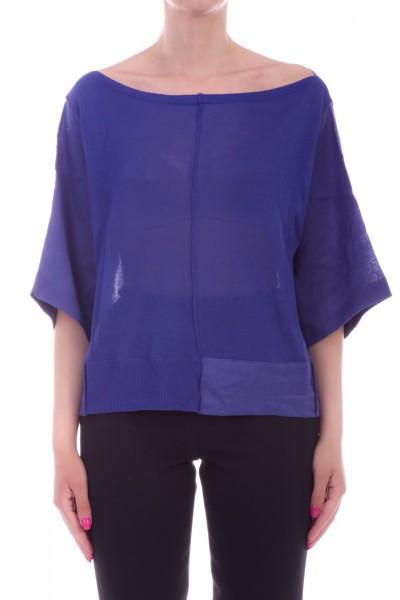 Manila Grace  Boat-neckline sweater M721VU BLUETTE