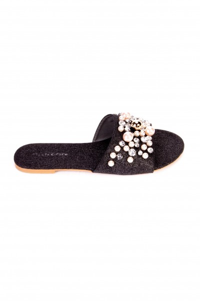 Manila Grace  FLAT SANDALS WITH PEARLS S717PU