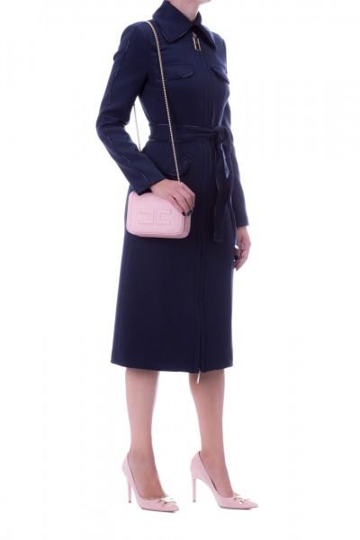 Elisabetta Franchi  Cappotto con fusciacca CP02496E2 Blu