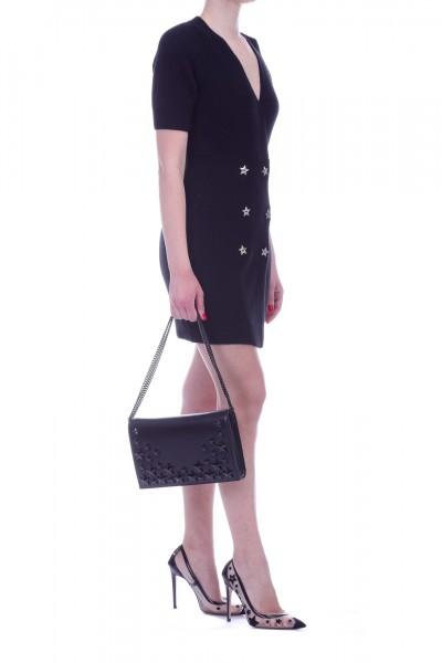 Elisabetta Franchi  Knit dress with star buttons AM04B91E2 Nero