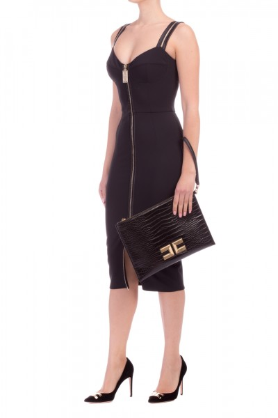 Elisabetta Franchi  Pencil dress with zip AB91196E2 Nero