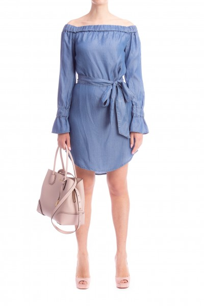 Michael Kors  DAYTIME DRESS IN DENIM WITH BELT MS88XUH5FS