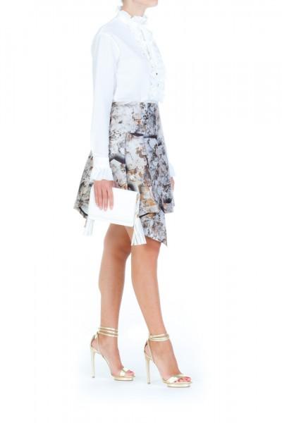 Mangano  Printed asymmetrical skirt A17PMNG00243