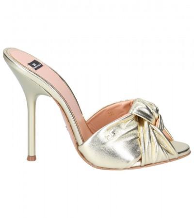 Elisabetta Franchi  Sandals with knot SA40F93E2 Oro