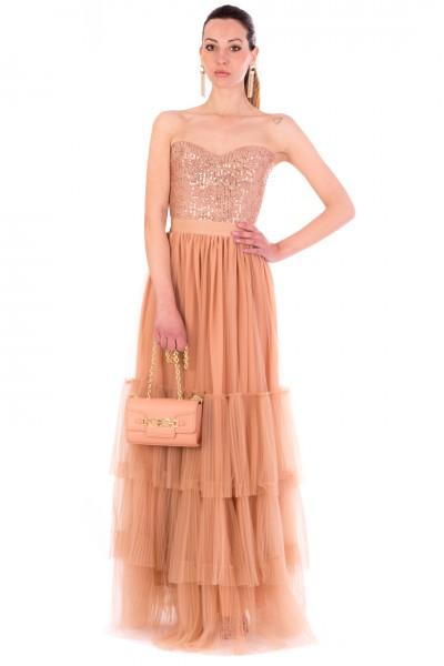 Elisabetta Franchi  Dress with sequins and tulle skirt TG00111E2 Phard