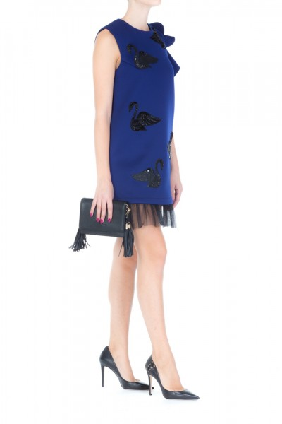 Mangano  Mini dress with swan embroideries A17PMNG00205