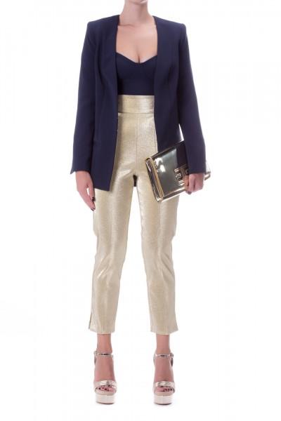 Elisabetta Franchi  Long jacket with hooks GI15496E2 Blu