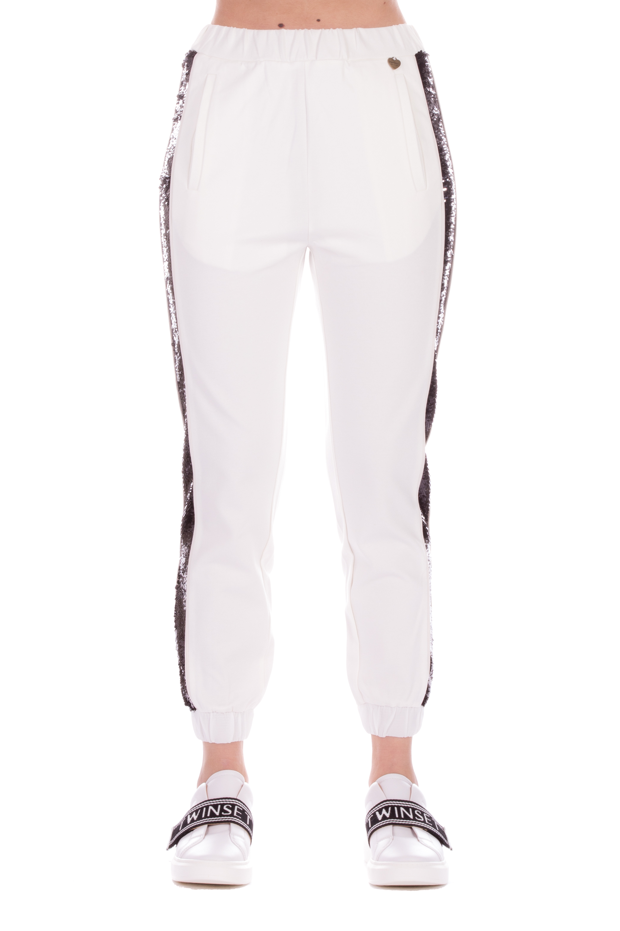 Twinset Pantaloni Jogging da Donna Nero,201TP2292