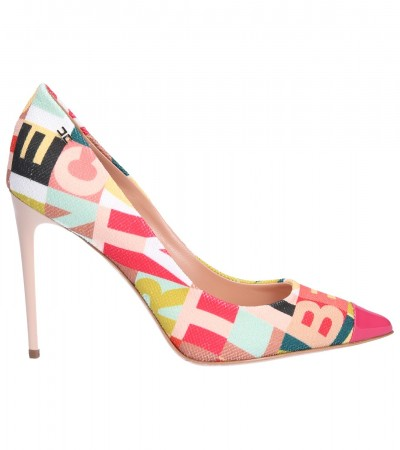 Elisabetta Franchi  Pumps with lettering SA14F92E2 Multicolor