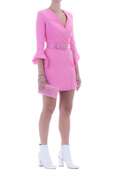 Elisabetta Franchi  Minidress with ribbons on the sleeves and belt AB94596E2 Chewingum