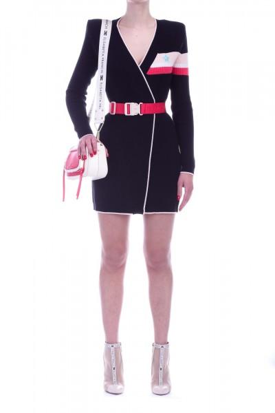 Elisabetta Franchi  Maxi sweater with belt MK26M91E2 Nero