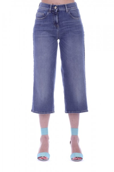 Elisabetta Franchi  Calf-lenght denim PJ19I91E2 Used Blue