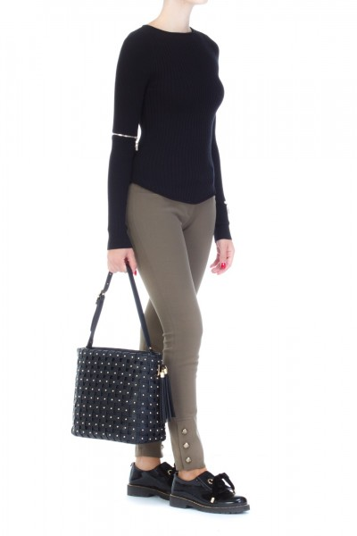 Mangano  Sweater with zip on the sleeves A17PMNG00223