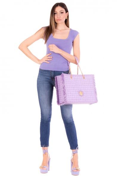 Elisabetta Franchi  Jeans skinny a vita alta PJ07S11E2 Blue denim