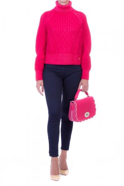 Elisabetta Franchi  Turtleneck sweater MK56S96E2 Fuxia