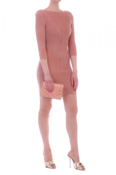 Elisabetta Franchi  Knit minid dress with neckline con the back AM01N91E2 Phard