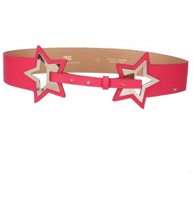 Elisabetta Franchi  Two-tone belt with stars CT04S91E2 Bouganville