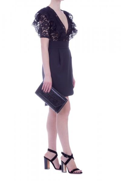 Elisabetta Franchi  Dress with detachable lace top AB77492E2 Nero