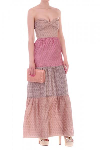 Manila Grace  Sweetheart neckline dress with flounces R632CS VAR.UNICA