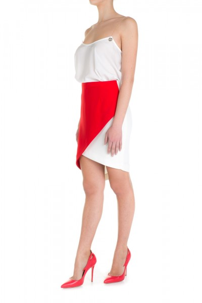 Mangano  Two tone asymmetric skirt P16PMNG00012