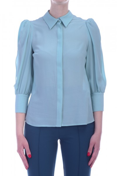 Elisabetta Franchi  Shirt with open sleeves CA19291E2 Acquamarina