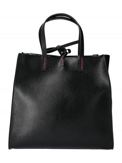 Manila Grace  Hammered leather medium Felicia bag B030EU METAL NERO
