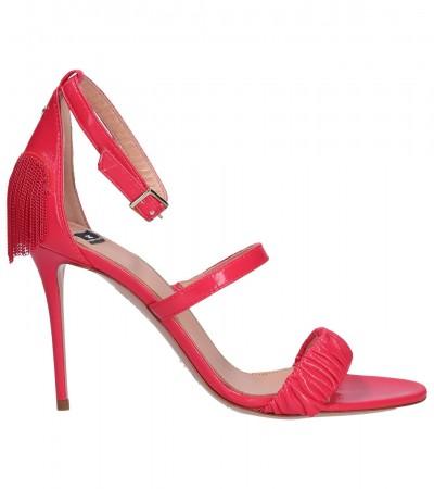 Elisabetta Franchi  Sandals with heart and fringes SA05L91E2 Bouganville
