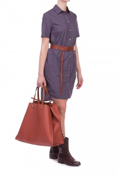 Manila Grace  DAYTIME CHEMISIER DRESS WITH SHORT SLEEVES A031CU