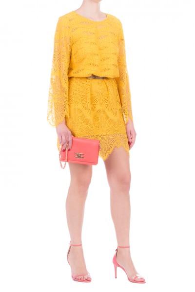 Twin-Set  Long sleeved macramé dress 201TP2030 MIELE