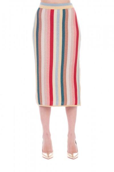 Elisabetta Franchi  Gonna in maglia multicolor GK02T92E2 Multicolor