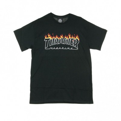 Thrasher  MAGLIETTA SCORCHED OUTLINE TEE BLACK 329457_1449623