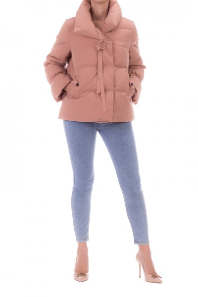 Bosideng  Short down jacket with high collar and charm F20ITW41110