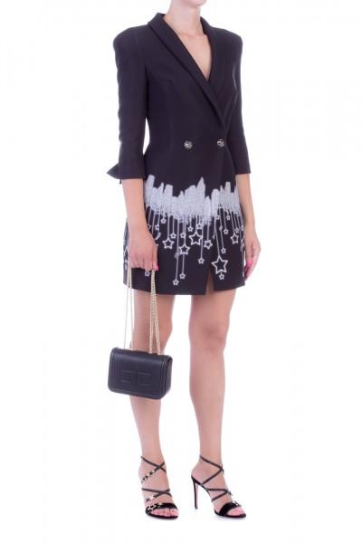 Elisabetta Franchi  Mini dress with skyline print AB93396E2 Nero