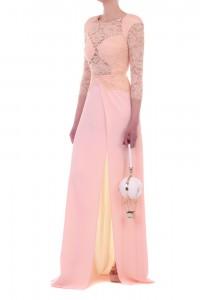 Top rosa con pizzo bianco U9676CAMEOST U9676CAMEOST