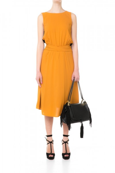 Jucca  Two-tone dress with curling at the waist J2317004