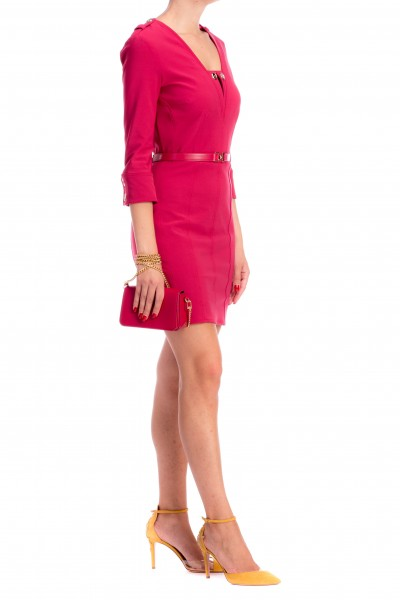Elisabetta Franchi  Mini dress with belt and three quarter sleeves AB48086E2