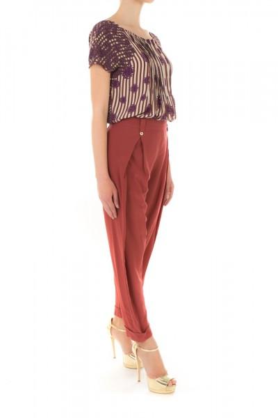 Manila Grace  Wide highwaisted trousers SA3722